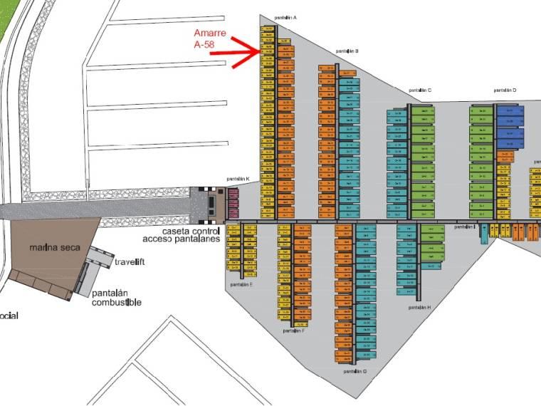 Mooring For Rent Year In CN De Sada 8x35m