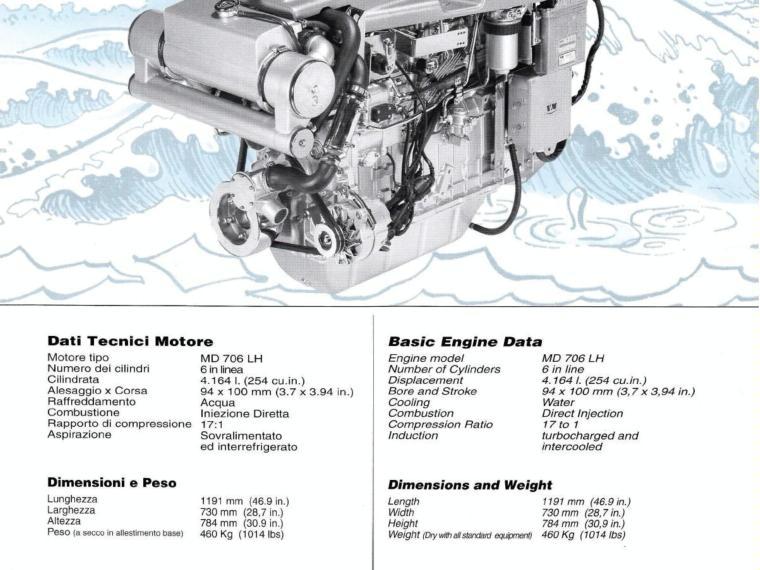 2x marine engine MWM 300 c v to 3800 r p m second-hand 53566