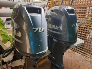 2 x 2019 70HP 4-Stroke Yamaha F70 AET Long Shaft Engines