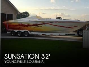 Sunsation Dominator 32 SS Mid Cabin Open Bow