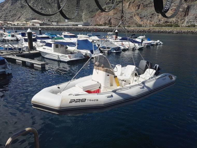 Zodiac Inflatable Boat >> Zodiac Pro Open 550 in Marina Santa Cruz | Rigid ...