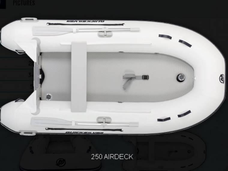 Quicksilver opblaasboten 250 AirDeck