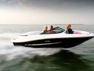 Sea Ray 190 SPE im Vorlauf