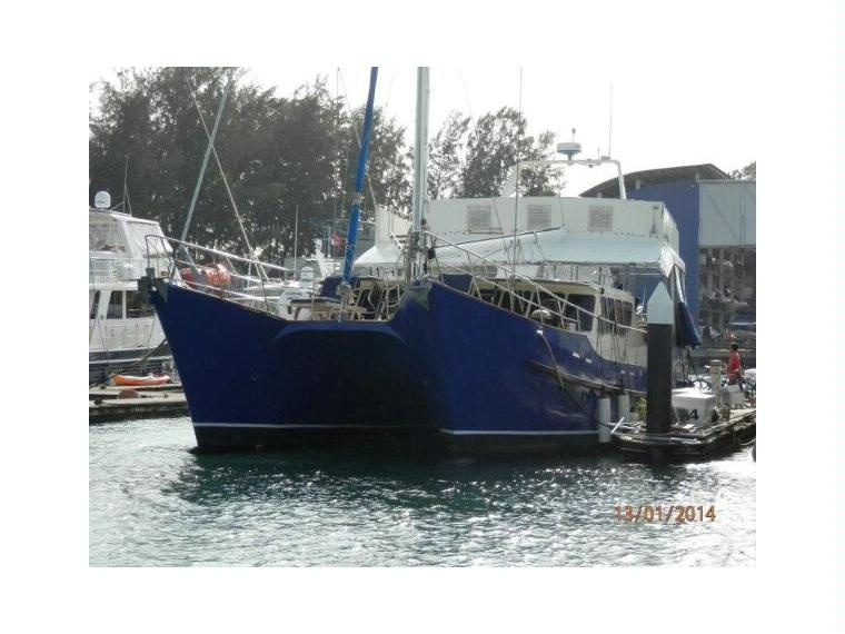 Catamaran Motor Sailer Steel in Singapore | Sailboats used 75499 - iNautia
