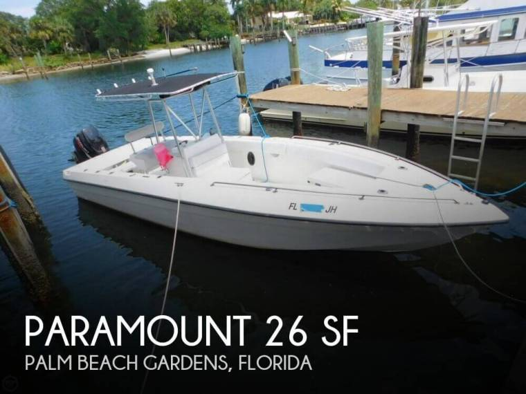 Paramount 26 sf in florida open boats used 75250 inautia for Paramount fishing boat