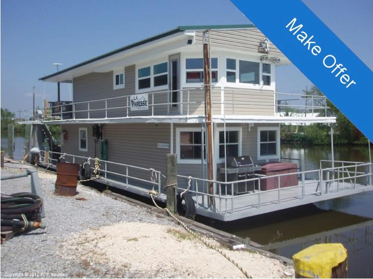 Custom Built 69' Barge Houseboat - Twin Diesel in Louisiana | Power boats used 52575 - iNautia