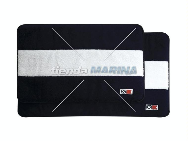 Alfombra de ba o banderas marino blanco fashion and - Alfombras de bano ...