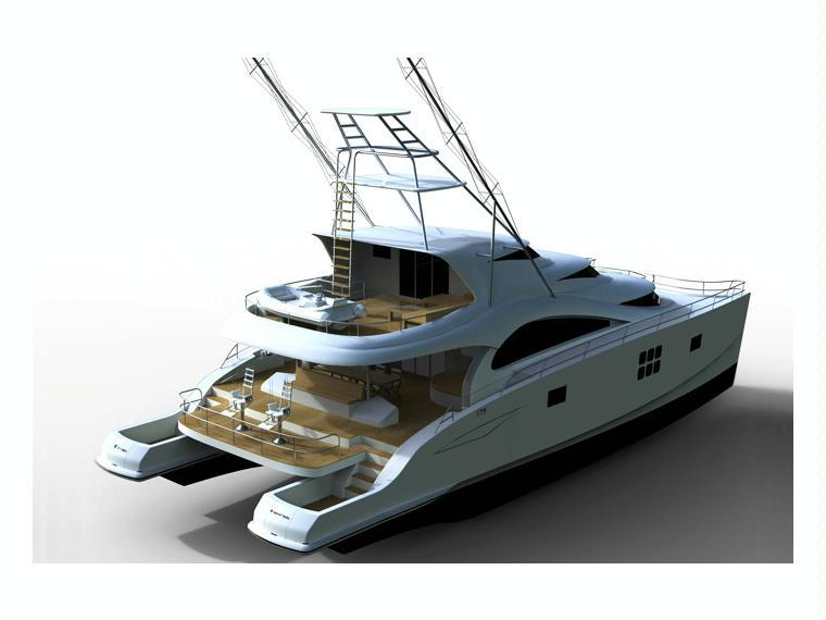 Boat sunreef 75 sportfish inautia for Catamaran fishing boats for sale