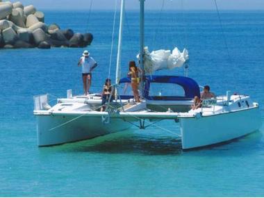 Lady Hawke 37 Cabrio Catamaran sail