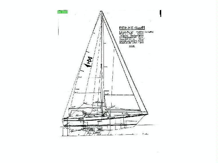 reinke super 11 decksalon alu bilge keel in majorca. Black Bedroom Furniture Sets. Home Design Ideas